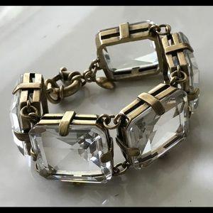 💗JCrew Chunky Clear Stones Bracelet 💗